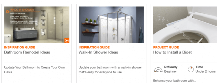 Home Depot Bathroom Projects