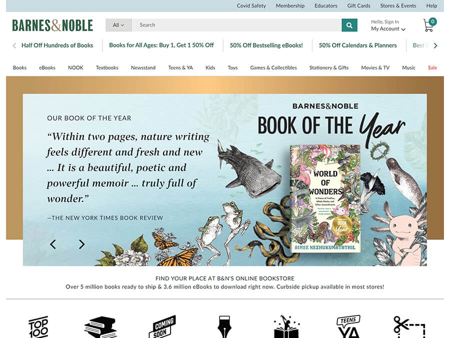 Barnes & Noble screenshot