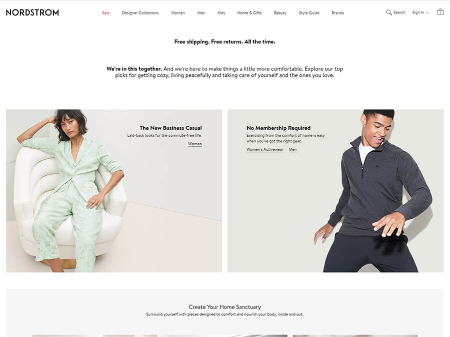 Nordstrom screenshot