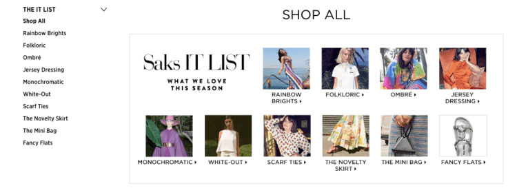 Saks inspiration, fashion and clothes
