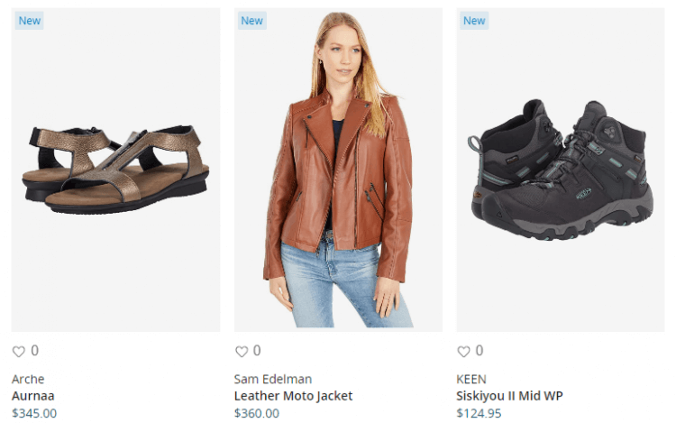 New Arrivals at Zappos