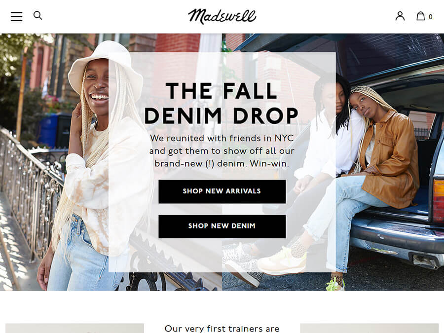 Madewell screenshot