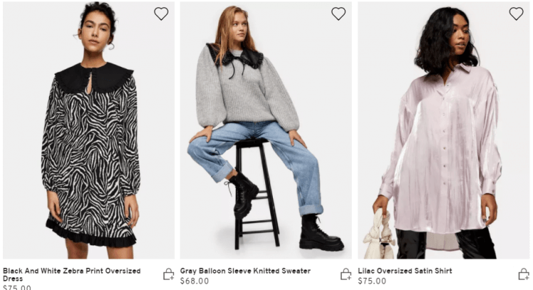 Topshop's new items