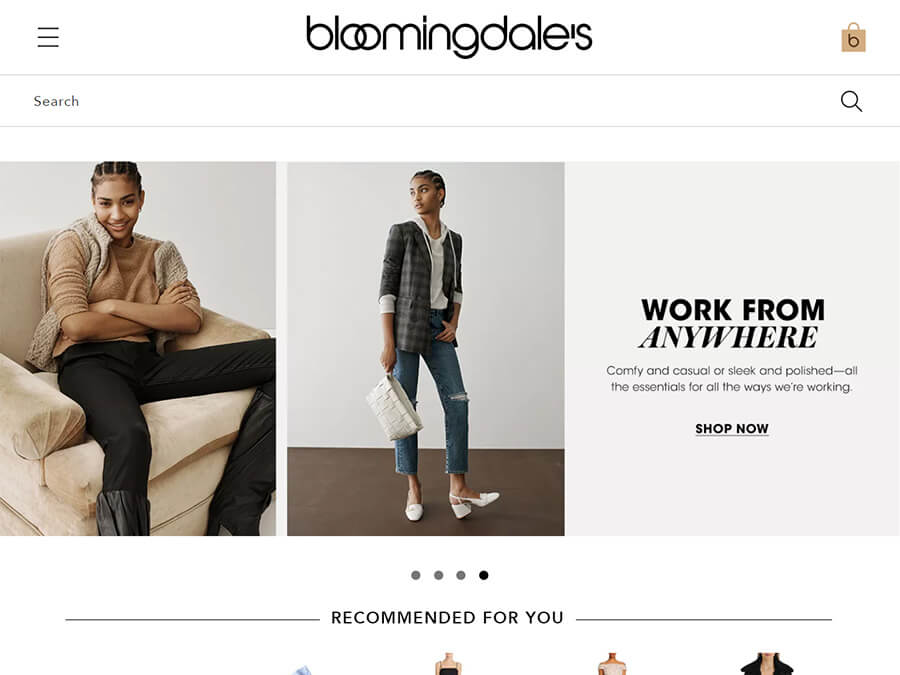 Bloomingdale's screenshot