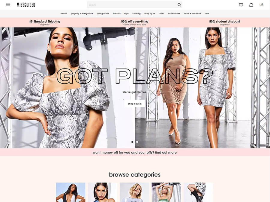Missguided screenshot