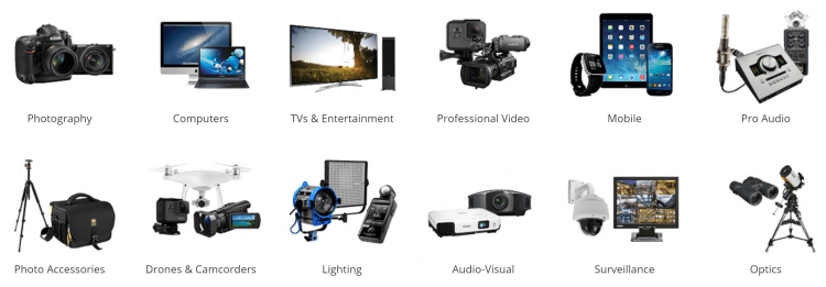 B&H product categories
