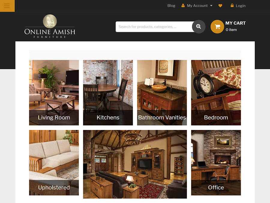 Online Amish Furniture screenshot