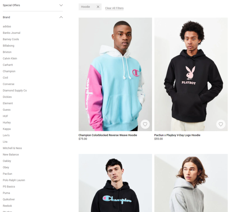 PacSun best selling hoodies for men