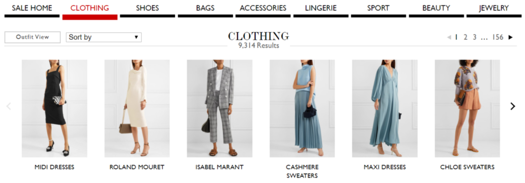 Net-A-Porter sales section