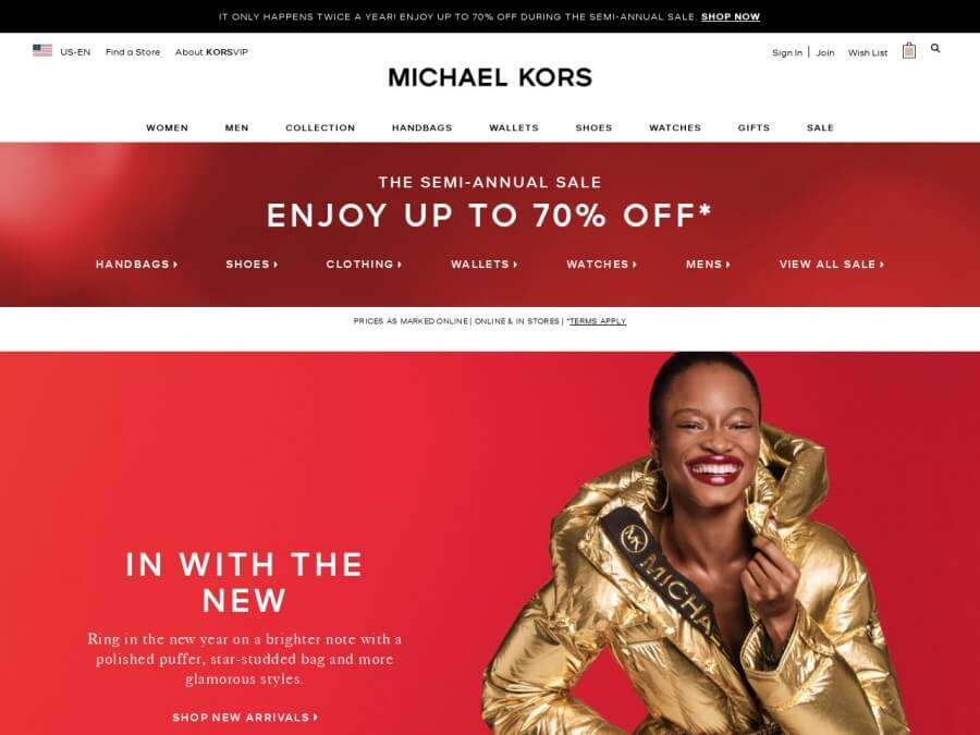 Michael Kors screenshot