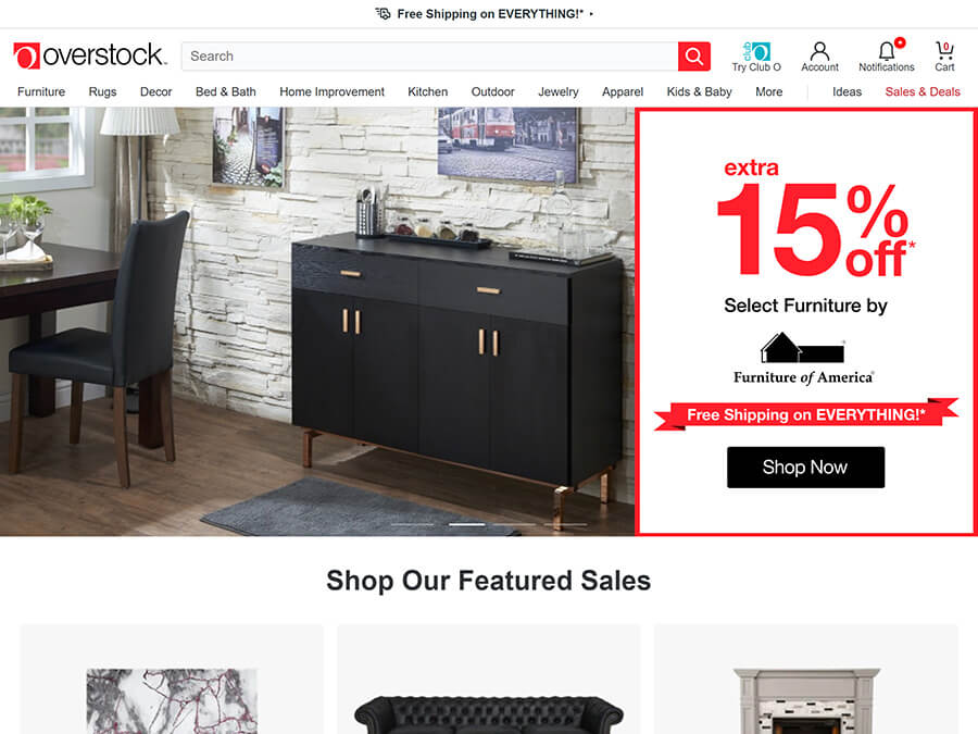 Overstock screenshot